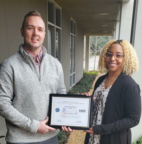 SS&A's Charlot Receives National Guard Patriot Award