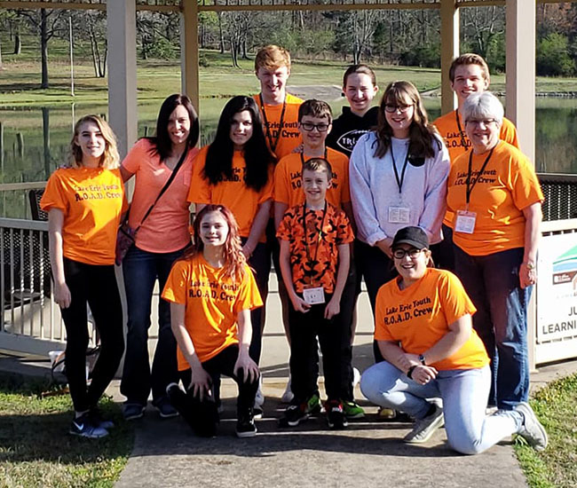 Mary Kay Eisert-Wlodarczyk and the Lake Erie Youth R.O.A.D. Crew